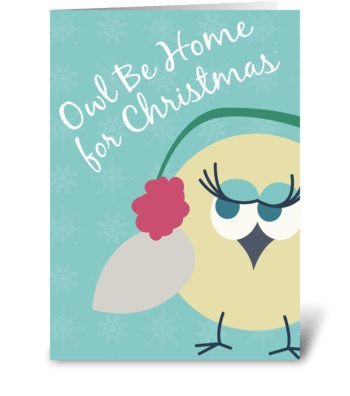 Owl Be Home for Christmas™ - 2 greeting card