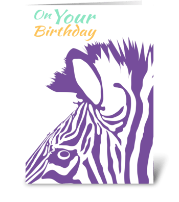 Zebra - Wild Birthday Wishes greeting card