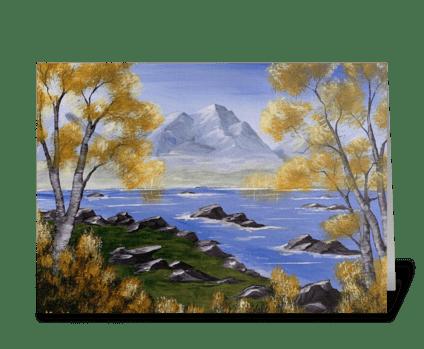 Aspen mountain  greeting card