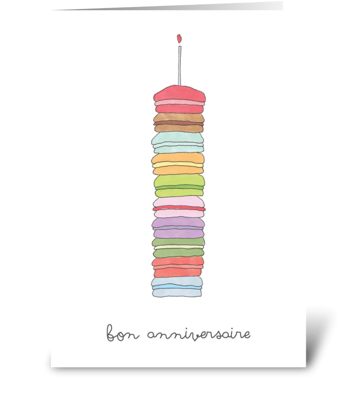 bon anniversaire greeting card