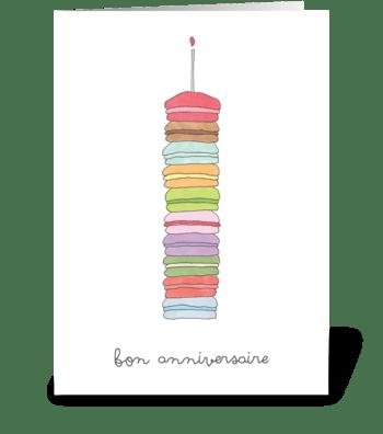 bon anniversaire greeting card