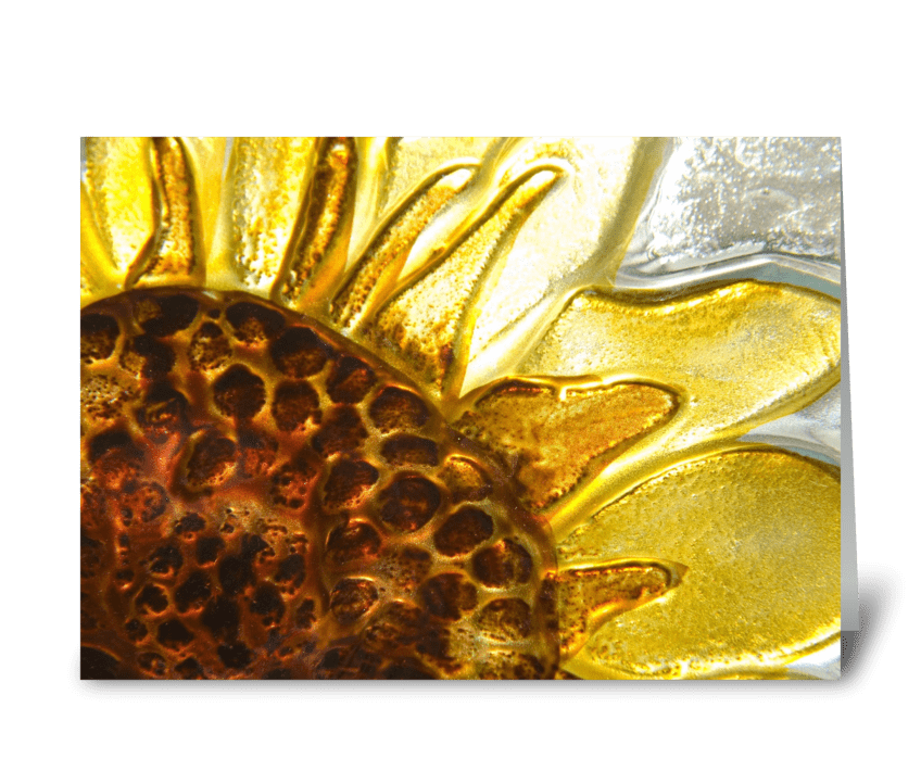 Sunflower in Glass greeting card