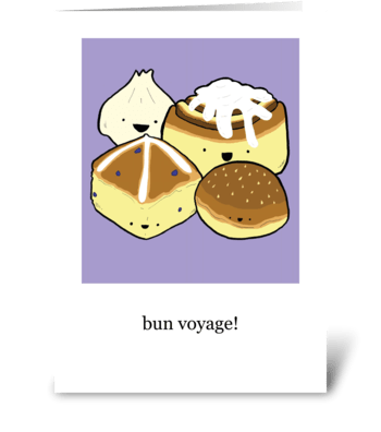 """Bun"" Voyage! greeting card"