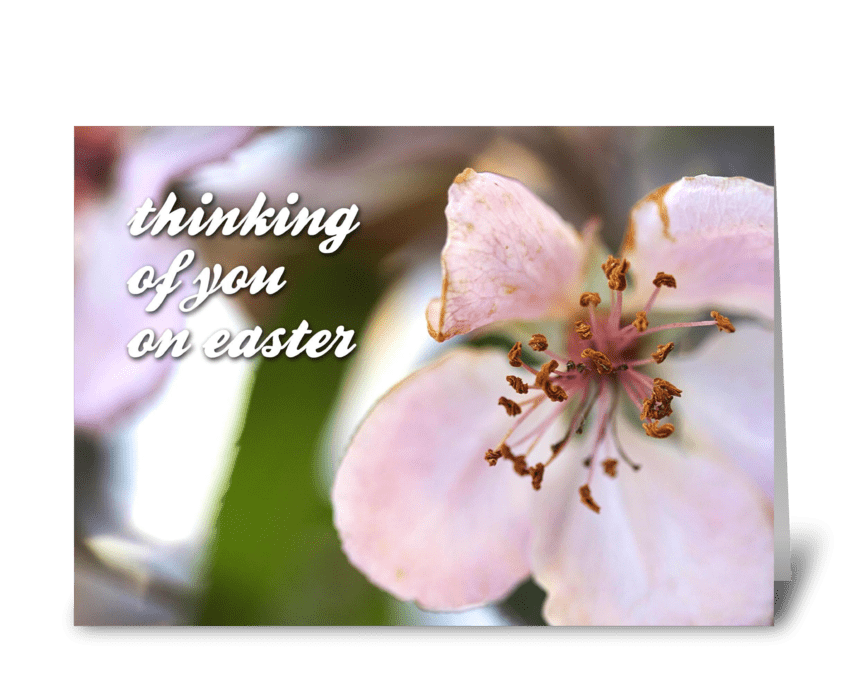 Thinking Of You On Easter greeting card