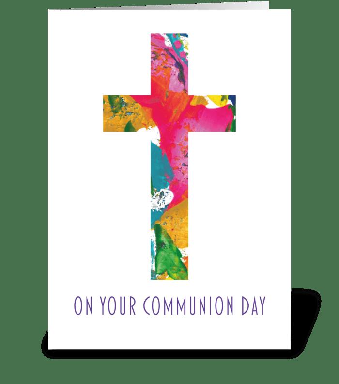 Communion Card - Modern greeting card