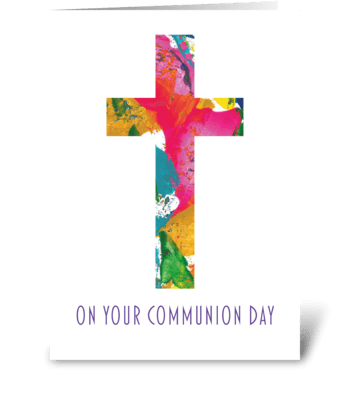 41 Communion Card - Modern greeting card