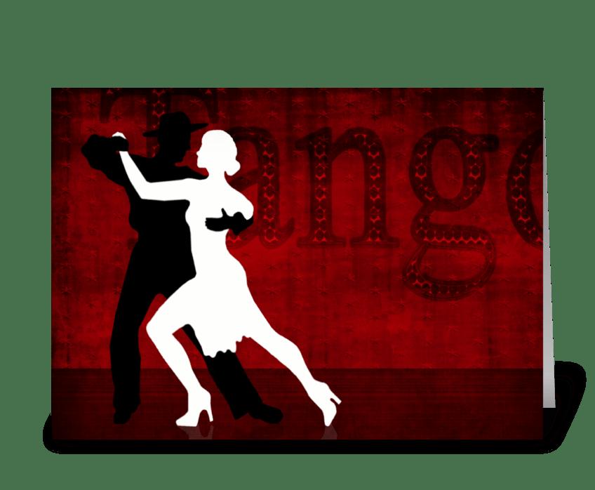 Tango Series 2 greeting card