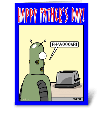 Robot Love Father's Day card greeting card