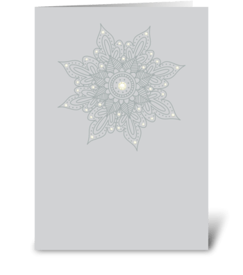 Modern Bazaar 2 Silver greeting card
