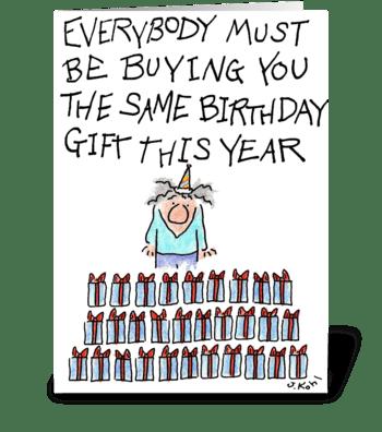 Prune Juice Shortage greeting card