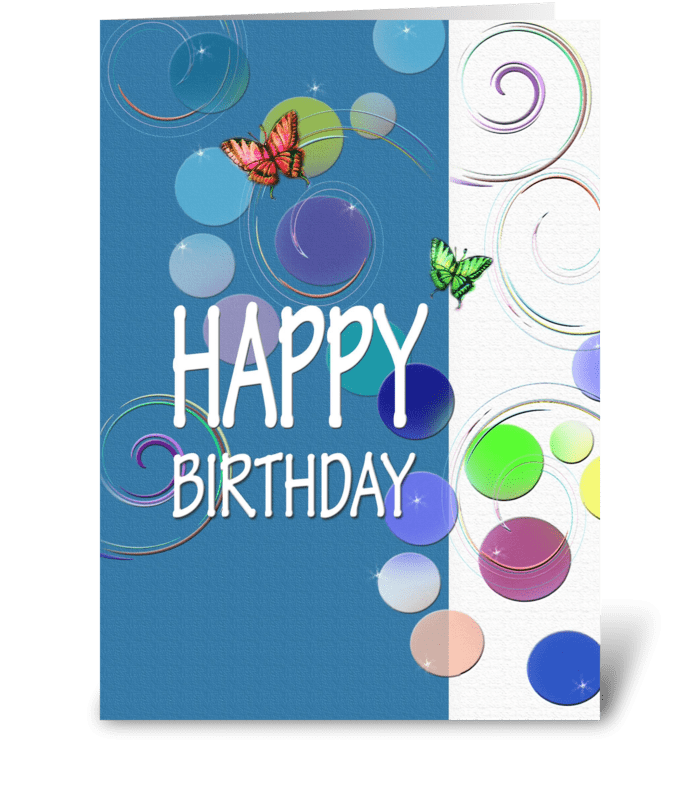 colorful Happy Birthday Wishes greeting card