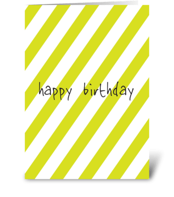 What Is Green And White greeting card