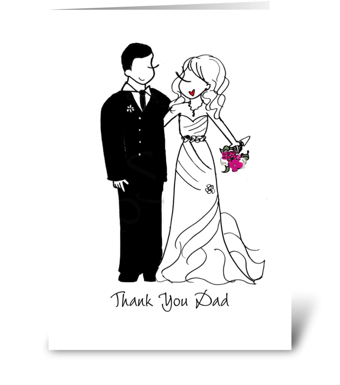 Thank you Dad greeting card