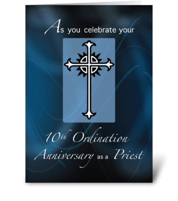 10th Ordination Anniversary of Priest greeting card
