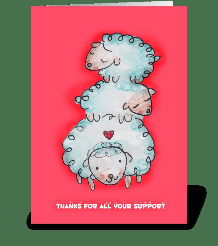 Thankful Sheep greeting card