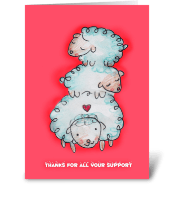 Thankful Sheep greeting card