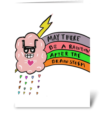 Brainstorm greeting card