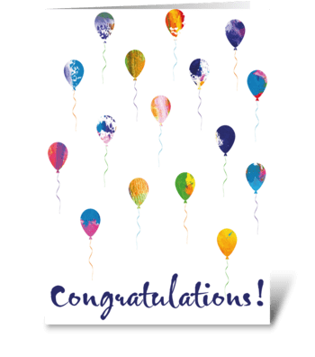 55 Congratulations Navy greeting card