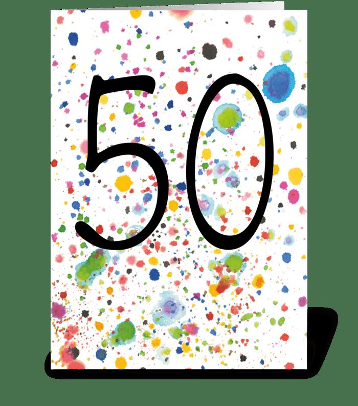 (29) 50th Birthday / Anniversary greeting card