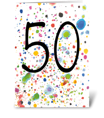 50th Birthday / Anniversary greeting card