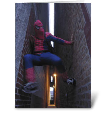 Spiderman In Chicago greeting card