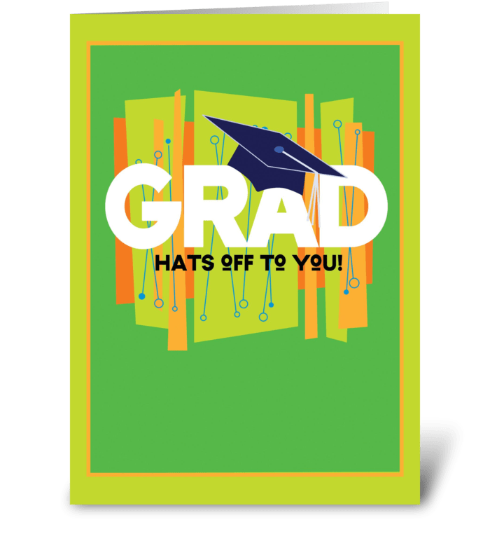 Hats Off! greeting card