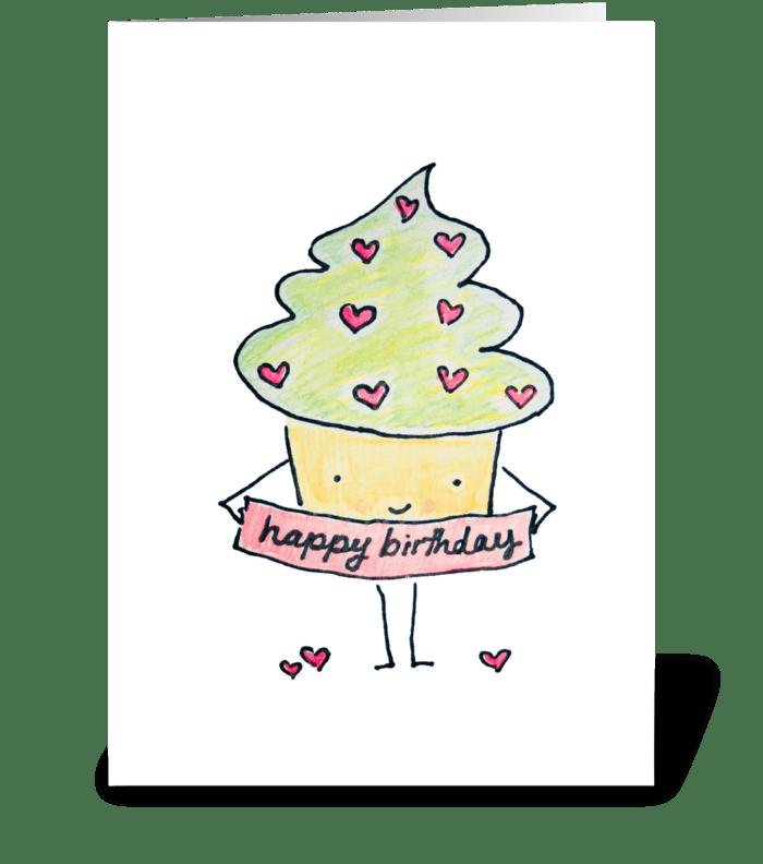 Sassy Birthday Cupcake greeting card