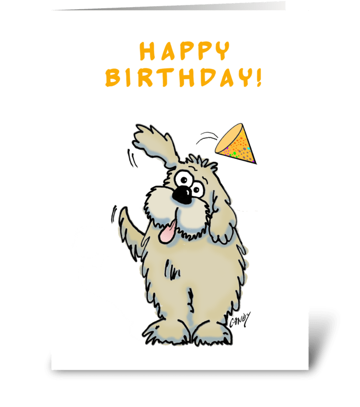 Happy Birthday Dog Send This Greeting Card Designed By Graphicdoodles Card Gnome