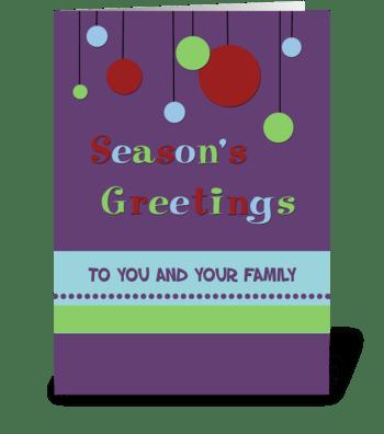 Season's Greetings Modern Decorations greeting card
