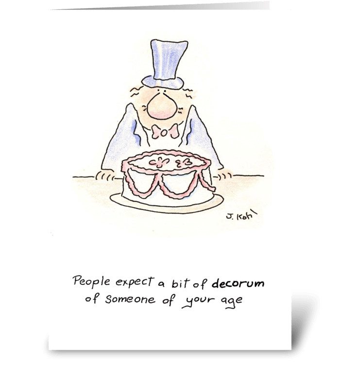 Decorum greeting card