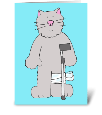Recovery from knee surgery. greeting card