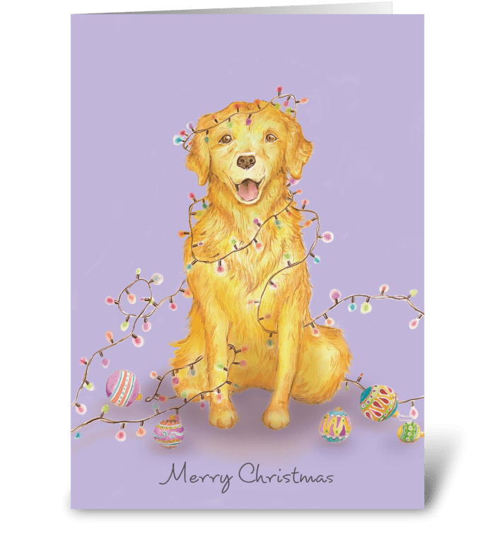 Christmas Dog greeting card