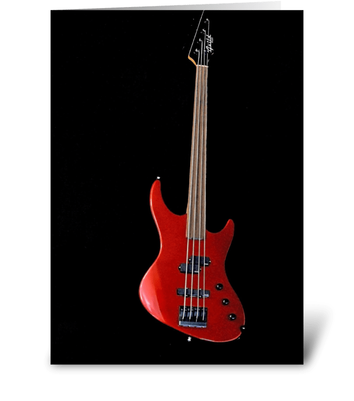 Red Bass greeting card