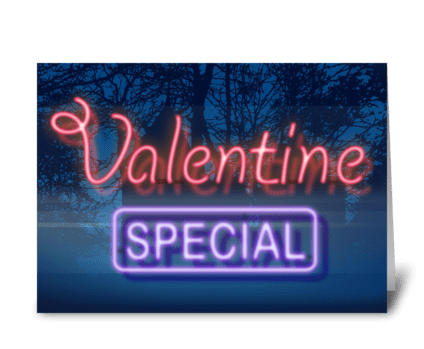 Valentine Special greeting card