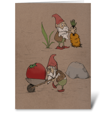 Gnomes in the Garden greeting card