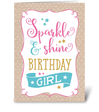 Sparkle & shine greeting card