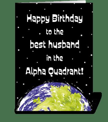 83 Star Trek Husband Birthday Card greeting card