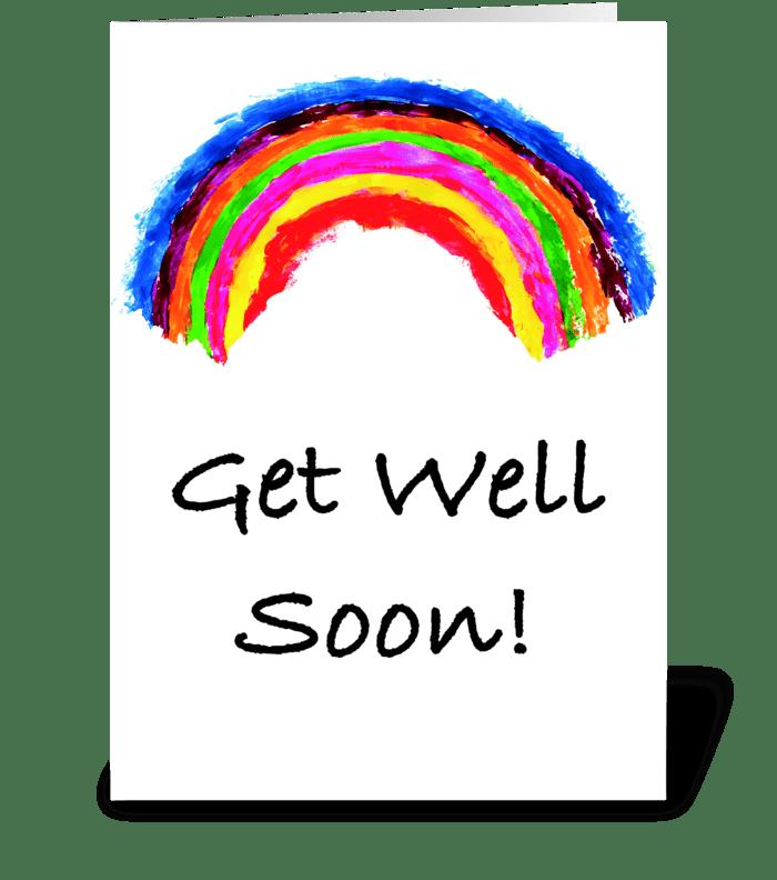 Get Well Soon Rainbow Card greeting card
