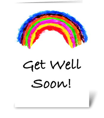 Get Well Soon Rainbow Card greeting card