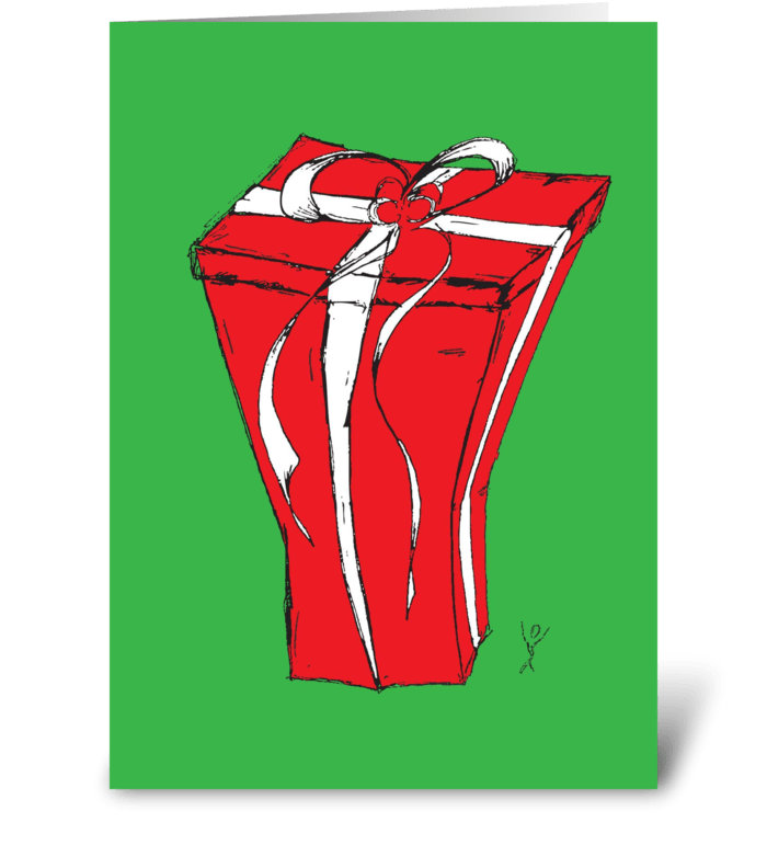 Big Christmas Present greeting card