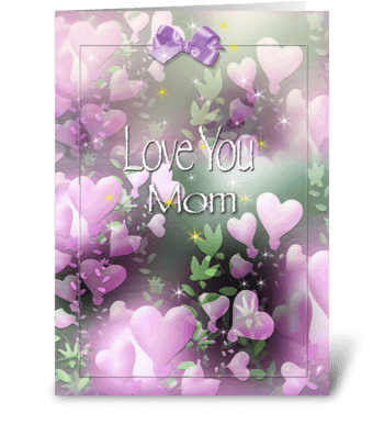 Love you MOM, Mother's Day Greeting greeting card