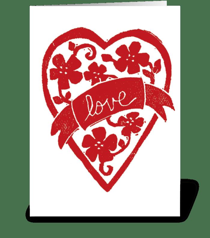 Love Banner greeting card