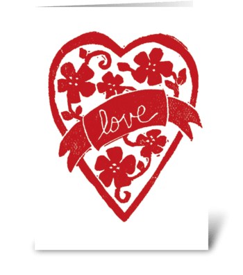 Love Banner greeting card