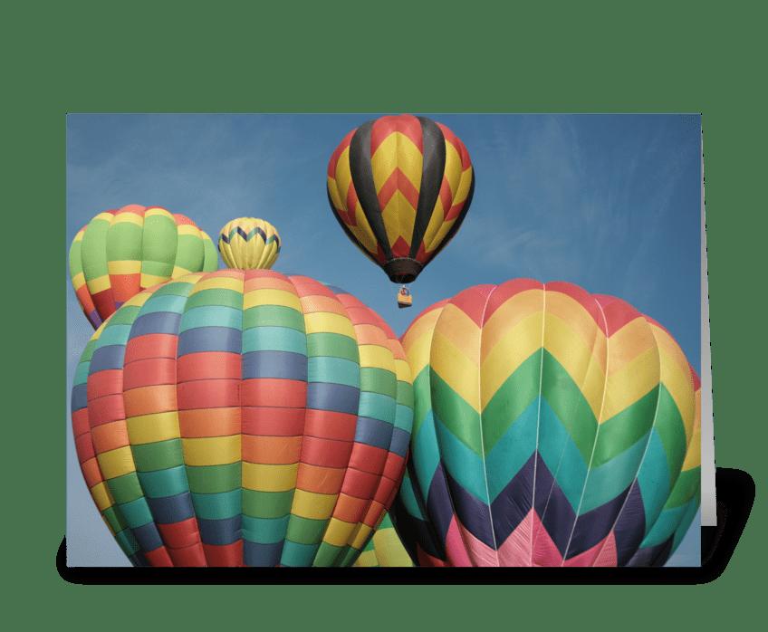 Balloon Crowd greeting card