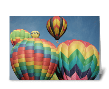 Balloon Crowd greeting card