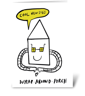 Wrap Around Porch greeting card