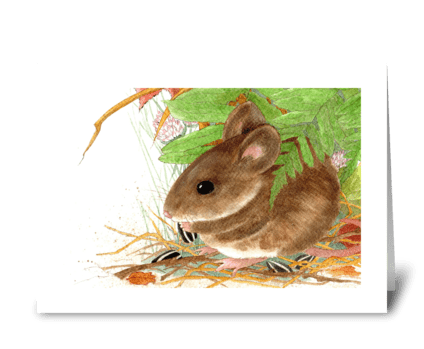Fieldmouse greeting card