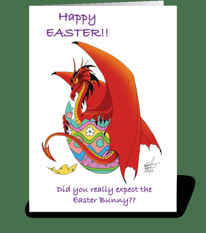 Easter Dragon greeting card