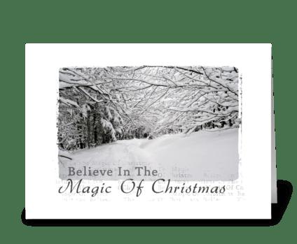 magic of Christmas greeting card