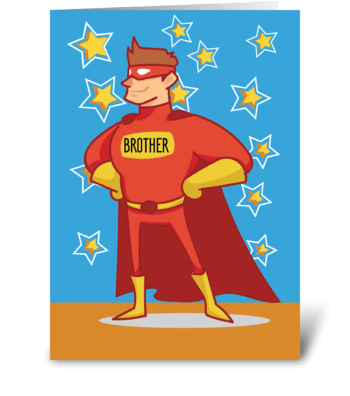 Brother Superhero Father's Day greeting card